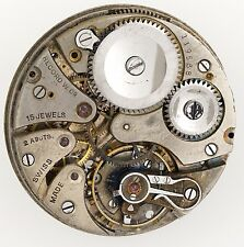 RECORD WATCH COMPANY, SWISS LEVER POCKET WATCH MOVEMENT R224
