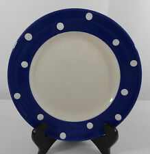 """Spode Blue Baking Days Salad Plate White Dots New 7.75"""""""