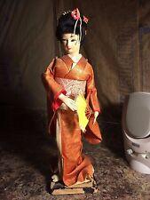 Vintage Japanese Geisha Oriental Doll Figurine