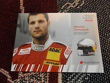 2008 DTM AUDI SPORT DRIVER INFO CARD - MARTIN TOMCZYK