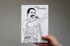 Freddie Mercury Mother's Day card! Queen, Bohemian Rhapsody, a night at the