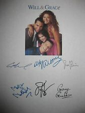 Will and & Grace Signed Script Pilot X6 Debra Messing Eric McCormack Hayes repnt