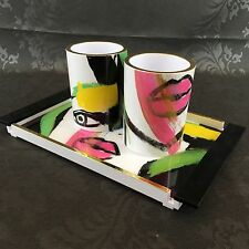 Sonia Kashuk Art Of Makeup Vanity Tray & Brush Cup Mug Bathroom Dressing Table