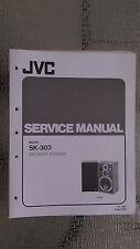 JVC sk-303 service manual original repair book stereo radio house speaker