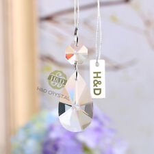 5 Window Suncatcher Hanging Glass Crystal Rainbow Prism Feng Shui Pendant 38mm
