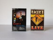 ☆ (2) Cassettes ☆ RACER X ☆ SECOND HEAT ☆ LIVE EXTREME VOLUME II ☆ TESTED ☆