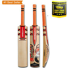 Gray Nicolls Kaboom Full Size Cricket Bat + Grip + Fiber + Oil & Knock
