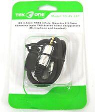 Cavo Adattatore Audio TeKone TO-AV-107 TRRS Dc 3.5mm M - 2 Trs Stereo F hsb