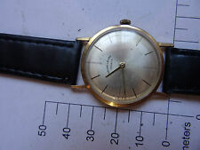 Old VINTAGE swiss WATCH FABRE- LEUBA GENEVE GOLD AU 20 1950