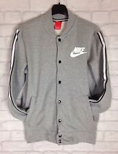 MENS VTG RETRO GREY NIKE BOMBER JACKET TRACK JUMPER SWEATER SPORTS ATHLETIC UK M