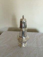 """LOVELY SILVER PLATED HEXAGONAL SHAPED FOOTED SUGAR SHAKER  7.5"""" TALL (REF 6122)"""