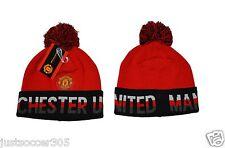 BEANIE MANCHESTER UNITED POM POM SKULLIE SKULLY HAT CAP  official licensed MUFC