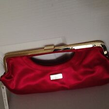 Suzy Smith Red Satin Ladies Clutch BMWT
