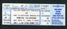 U2 1992 Zoo Tv Tour Unused Full Concert Ticket Silverdome Achtung Baby Bono