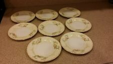 "Vintage Hand Painted MEITO CHINA FLORA PATTERN - 8 PLATES, 6-1/2"" diameter"