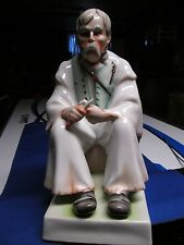 ZSOLNAY BACON or WOOD CARVER MAN HUNGARIAN  LARGE Porcelain Figurine
