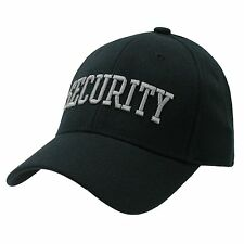Black Security Guard Officer Flex Fitting Baseball Cap Caps Hat Hats Size L/XL