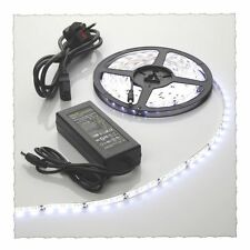 5m Cool Blanco Impermeable Tira de Luz LED +12v Power Supply 300 SMD3528 día brillante