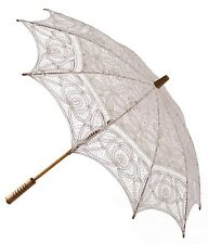 Ivory Parasol -  Ladies Vintage Victorian Edwardian Wedding Lace Sun Umbrella