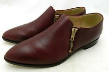 JCrew Leather Double Zip Loafers 6 warm redwood $278 shoes