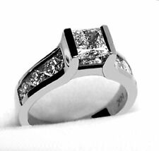 1.25 CT PRINCESS CUT DIAMOND ENGAGEMENT WEDDING RING 14K WHITE GOLD PD3279A