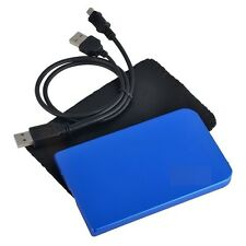 "New USB 2.0 2.5"" SATA Hard Disk Drive HDD Blue Enclosure/Case #B"