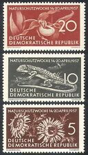 Germany 1957 Nature/Orchid/Lizard/Plants/Conservation/Animals 3v set (n26892)