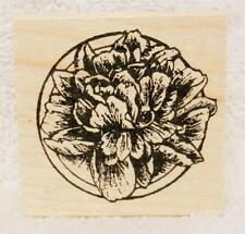 Northwoods Rubber Stamps Flowers Mother's Day Peony Blossom In Small Circle