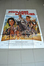 AFFICHE CINEMA 120 X 160 - PAVILLONS LOINTAINS - CHRISTOPHER LEE - ETAT NEUF