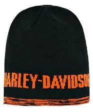 Harley-Davidson® Men's Screamin Eagle Orange Reversible Beanie Hat HARLMH029800