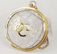 Fashion Globe Shaped Clutch Womens Clear Acrylic Evening Bag Handbag Purse 15001