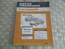 REVUE TECHNIQUE CARROSSERIE OPEL CORSA BERLINE 2 et 3 portes
