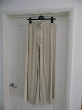 Stella Cruz Cream Beige wide Pallazo  Trousers size  small 10/12/14 tall