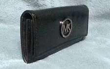 Michael Kors Fulton Black Patent Leather Continental Wallet, NWT, MSRP: $158