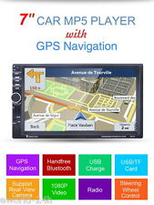 "7"" GPS 2 DIN Voiture Auto Radio Bluetooth 1080P Vidéo FM/AUX-IN/USB/SD MP5 Audio"