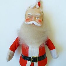 Vintage Santa Claus Figure Doll Rubber Face Red Felt Suit Japan 13""