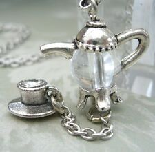 ALICE IN WONDERLAND MAD HATTER TEA PARTY Charm NECKLACE