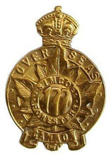 WW2 THE 177TH SIMCOE FORESTERS OVERSEAS OF CANADA BADGE