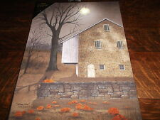 Battery Operated Lighted Autumn Moon Canvas Print  Ohio Folkartist Billy Jacobs