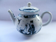 Worcester  Blue  &  White  Mini  Teapot  Of  V  &  A  Museum  Copy By   F. Mint