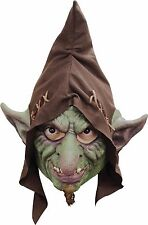 Scary Hobbit Mask Green Goblin Hob Domovik Halloween Latex Adult Creepy 26565