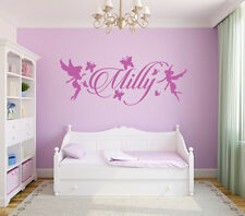 Best Girls Wall Name Sticker Decal Fairies and Butterflies Bedroom Art Decor