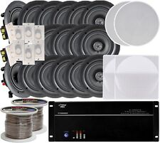 """NEW Pyle 8-room In-Ceiling 5.25"""" Speaker System 8-Ch 8000W AMP, Volume Controls"""