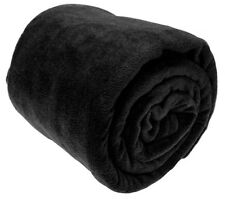Luxury Warm Soft Large Fleece Sofa Bed Blanket Throw 10 Colours 4 Size Available