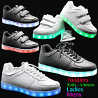 UNISEX GIRLS BOYS LADIES SNEAKER LED LUMINOUS LIGHT UP LACE TRAINERS SHOES SIZE