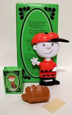 "PEANUTS Gang ""GREAT CATCH, CHARLIE BROWN"" Avon Products Soap Holder & Soap 1975"