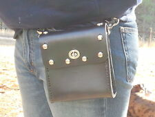 Genuine Leather Belt Bag - Hip Purse - Studded -Biker / Motorcycle