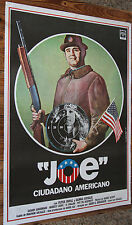 "Used  Cartel de Cine  ""JOE"" CIUDADANO AMERICANO  Vintage Movie Film Poster Usado"