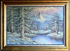 Franklin & Peterson-2 Original Oil Paintings/Canvas/Hand Signed/Framed--Lot #7
