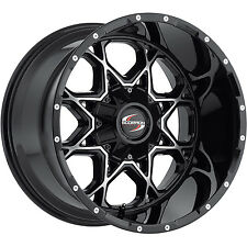 Scorpion SC10 20x12 8x165.1 (8x6.5) -44mm Black Machined Wheels Rims